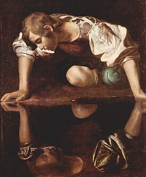 Narcissus by Caravaggio (1597)